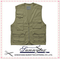 Wholesale Multipocket outdoor cheap Fishing Vest waistcoat