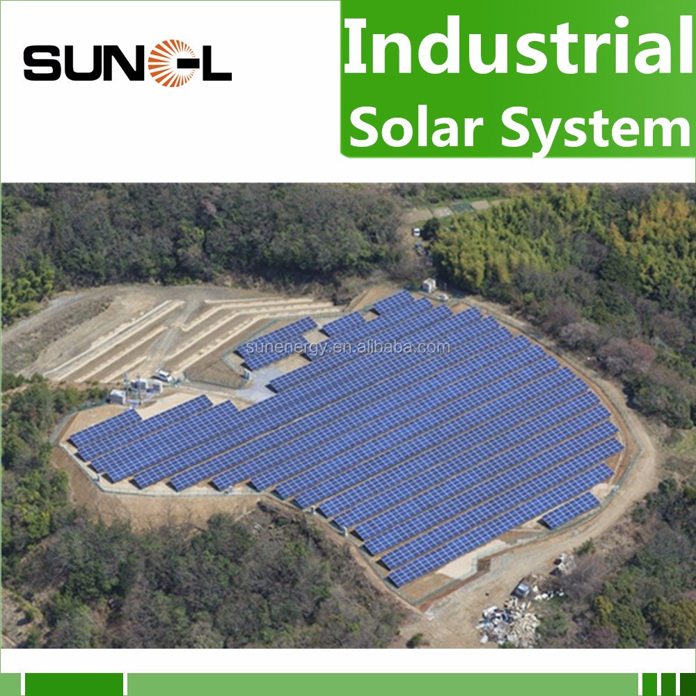 the solar system 100kw 150kw 200kw for commercial and industry power