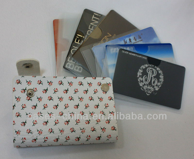 Nenest fashional design leather/PVC credit id card holder