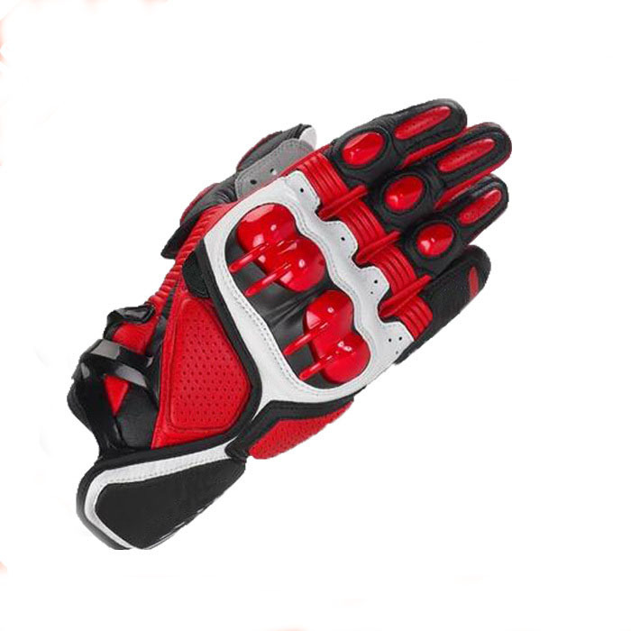 China newest motorcycke safety biker riding leather gloves on sale