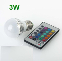 3W/5W/10W Spotlight Colorful lights + 24key IR Remote Controller Magic Lighting E27 RGB LED Light Bulb