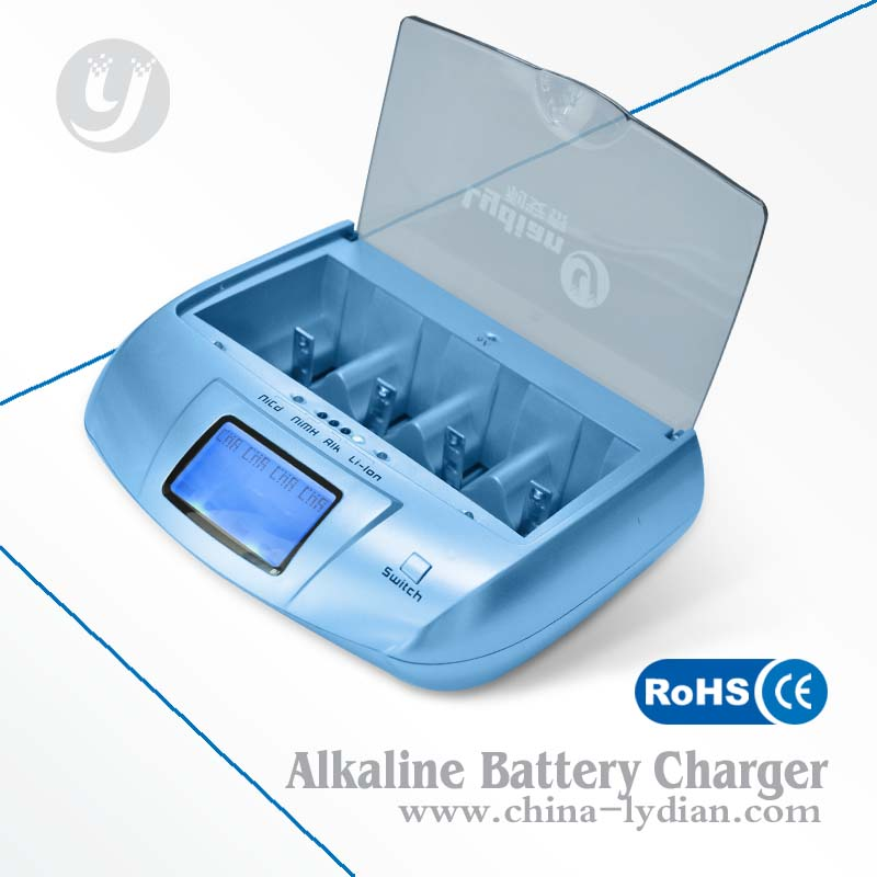Blue Alkaline Battery Charger It Disposable Battery Regenerator / Aa Battery Charger