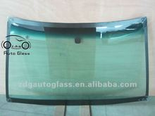 Front laminated windshield safety glass