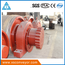 rubber lagging material belt conveyor bend pulley for cement mining industry