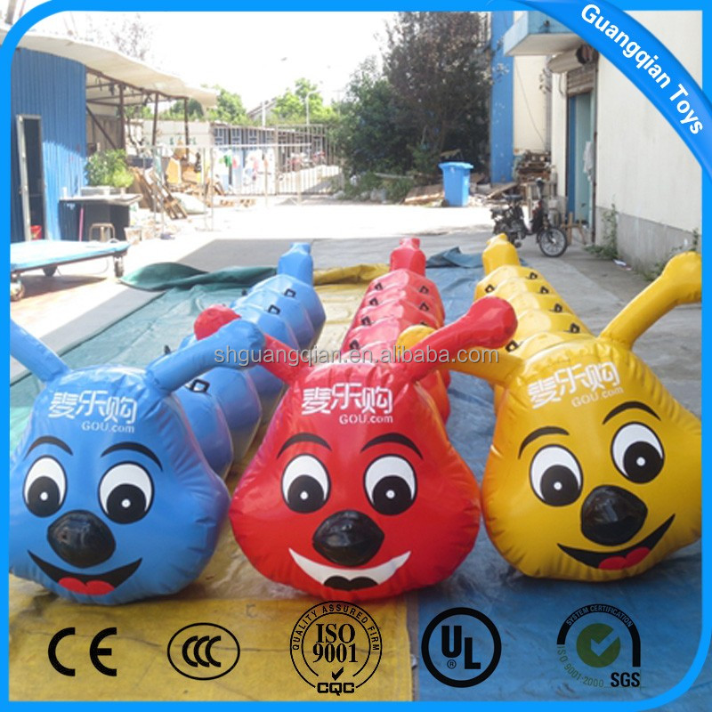 GuangQian Giant Inflatable Caterpillars For Outdoor Team Game Props
