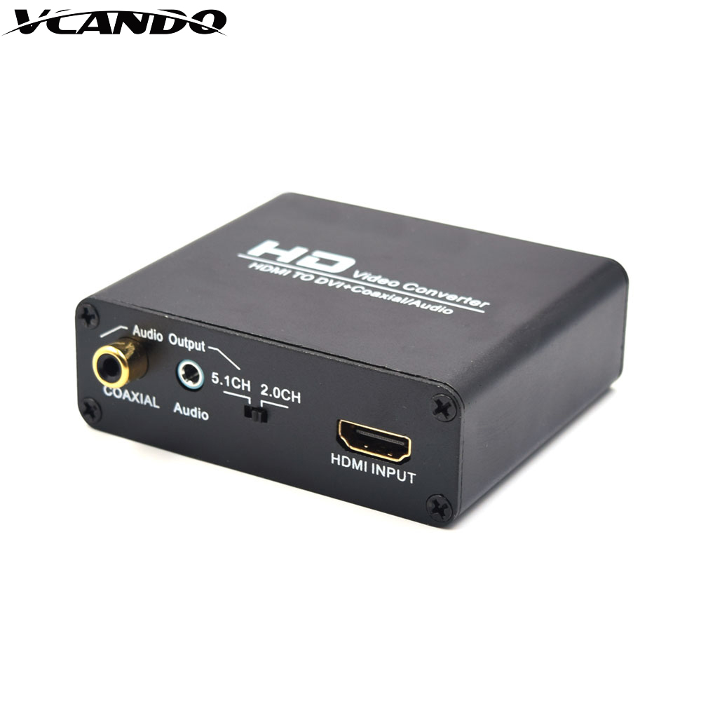 <strong>1080p</strong> HDMI HD VIDEO CONVERTER to DVI+CVBS+L/<strong>R</strong> with 3.5mm audio