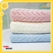 75 x 100cm New Snuggle Baby 100% Cotton Cellular Pram Blankets