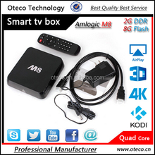 M8 Android TV Box fully loaded KODI 14.2 helix Amlogic S802 Quad core cortx-A9 Frequency:2.0G 2G Ram 8G Rom 4k tv box M8