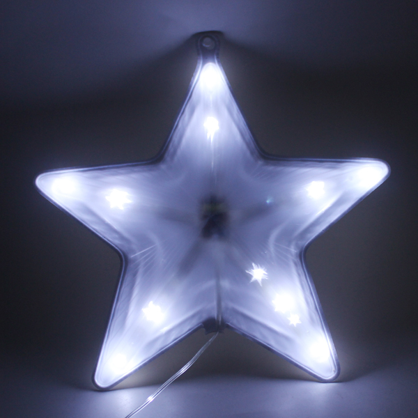 Christmas tree decoration holiday motif led 3d light star for 3d star christmas decoration