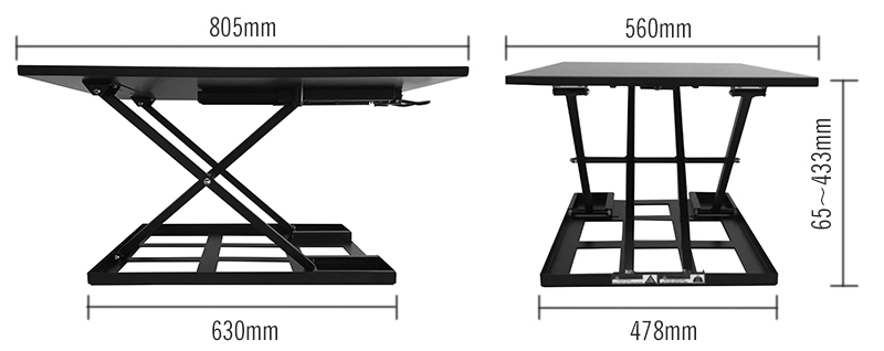 Cheap ergonomic height adjustable sit to stand office desk