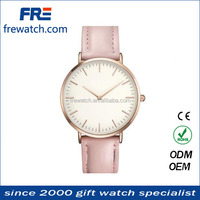 Big face Alloy genuine leather quartz watch,vintage leather band wrist watch for men/women