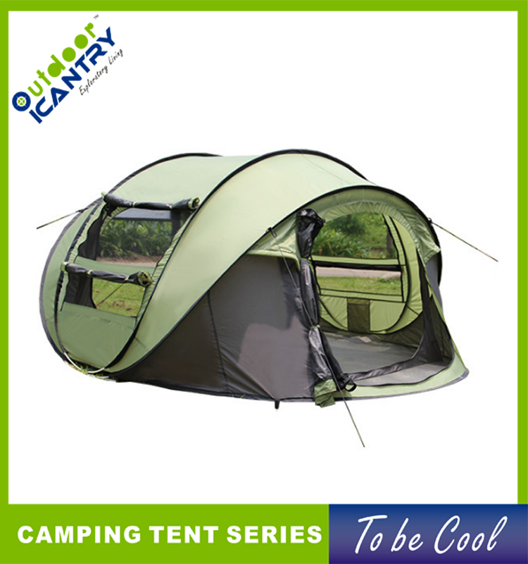 Outdoor Waterproof Camper Automatic Pop Up Family Glamping Camping Tent ZYZ18007