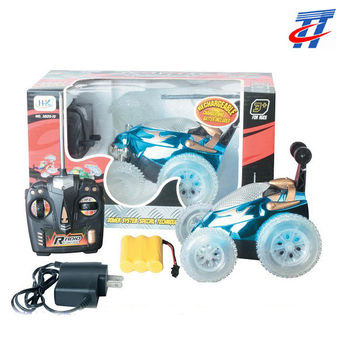 4CH RC STUNT TIP LORRY CAR W/LIGHT BETTERY