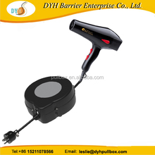 EU surge protection wall mounted retractable cable reel for barber shop