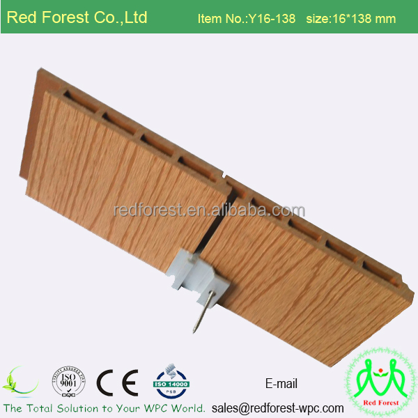 Wood Plastic Composite Exterior Wpc Wall Panel For