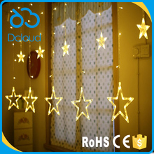 Dcloud Christmas Decorative Lighting Romantic Fairy Star LED Light Curtain String Lighting For Holiday Wedding Garland Party