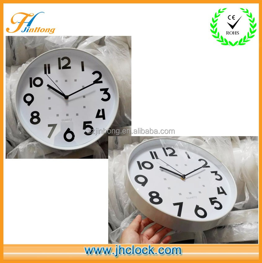 Thin Frame Grey Color Digital Wall Clock/ Master Production Wall Clock