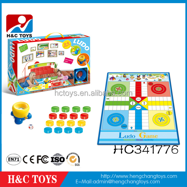 Hot sale cheap educational big size ludo chess game for kids HC341776