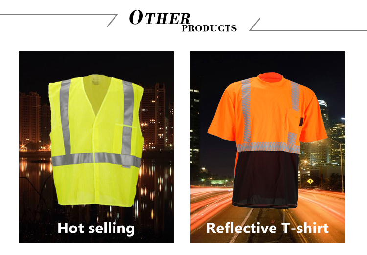 Fluorescent High Reflective Security Vest and Bib KF-007