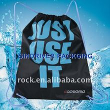 recycled printed promotional cute 210T nylon polyster drawstring bag