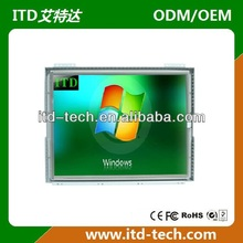 "high resolution 17"" open frame LCD touch monitor"