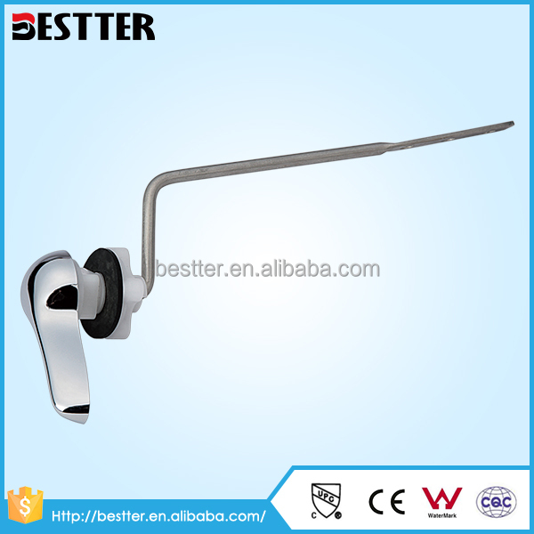 Stainless steel toilet trip tank flush lever