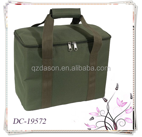Green Isothermal Bag Cooler Bag Lunch Bag for family picnic