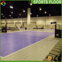 Modified PP volleyball court flooring