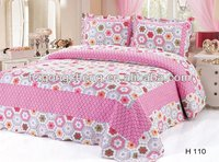 100% Cotton 3PCS Printed Patchwork Bedding Sets