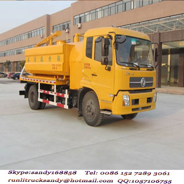 China manufature 4x2 Dongfeng 8000L dredge cleaning truck