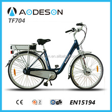 Green city electric bike TF704 for lady bicycles for sale electric bike 2014 step bike