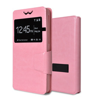 PU leather flip cover universal design your own cell phone case silicone products with 6 sizes bracket