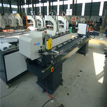 Vinyl window double head fabrication cutting saw