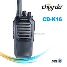Provides 8W two way radio communication with VHF136-174MHz/ UHF350-390MHz 400-470MHz CD-K16