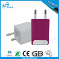 wall charger with cable for smartphone