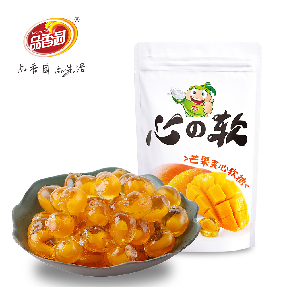 high quality mango flavor soft chewy fruit candy