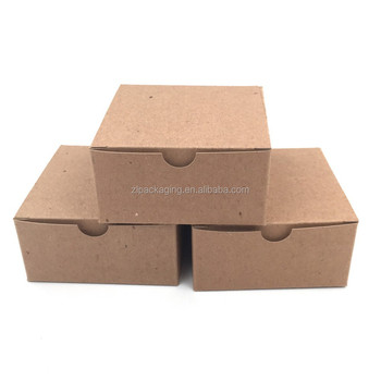 Custom Natural Recycled Brown Kraft Paper Tuck Top Gift Packaging Boxes