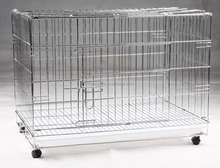 Hot Sale Dog Cage with Wheel 78X41.5X47 CM(Best Quality, Direct Factory, Low Price, Fast Delivery)