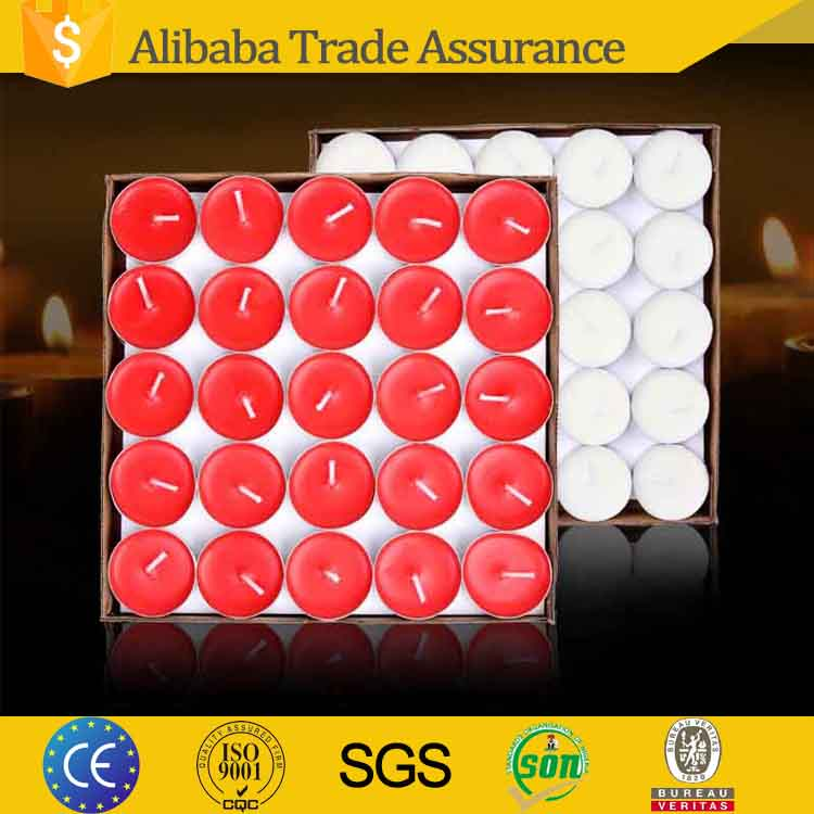 custom branded palm wax 23g 8 hour decorative tealight candles with factory price