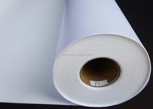 Glossy and waterproof polyester 600D stretched canvas roll for printing