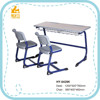 HY-0429K white oak MDF double school desk and chair for middle school