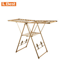 New design aluminum foldable clothes hanging rack