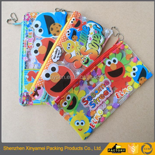 Customized Clear PVC ziplock bag zipper bag stand up pouch for pencil