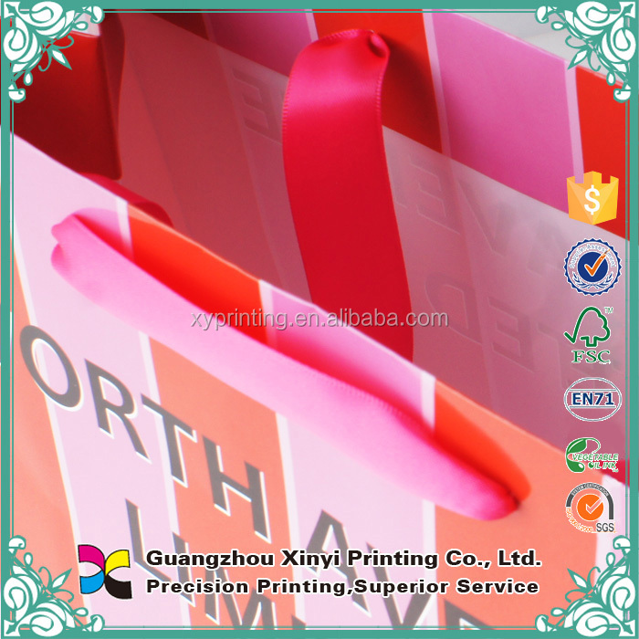 Alibaba custom reusable thin paper bags packaging