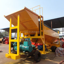 Placer Gold Wash Plant Rotary Small Mini Mobile Trommel Screen For Sale