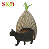 Plastic wicker dog house for small animal,hand-woven rattan cat house