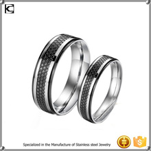 stainless steel newest design couple rings honeycomb beehive rings without stones