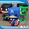 American hero plastic custom figure, big head plastic vinyl figure, pop vinyl figurine