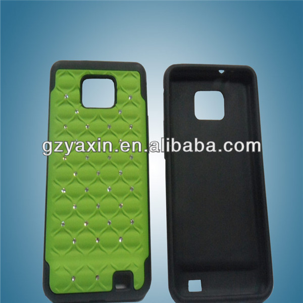 manufacturer hard diamond cover for samsung s2,handphone housing for samsung s2,mobile phone case for samsung s2