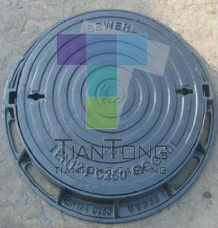 100% Factory Price Heavy Duty Ductile Iron Sand Casting Concrete Sewer Cover